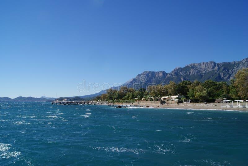 Miasto plaża w Kemer, Turcja obraz stock