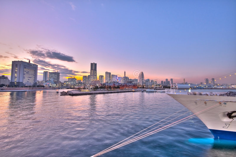 miasto podpalana linia horyzontu Tokyo Yokohama fotografia stock