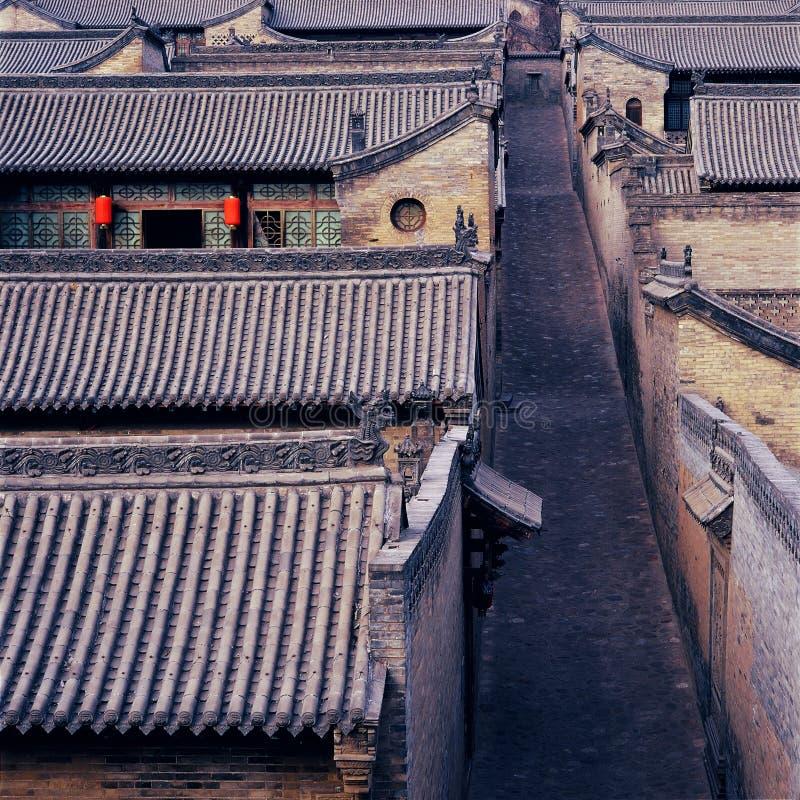miasto podwórzowy lud zakazujący s Wang fotografia stock