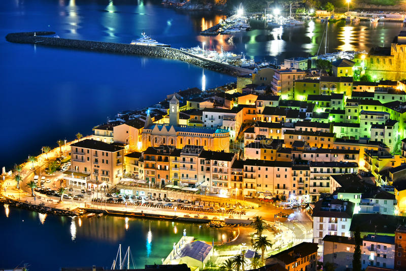 Miasto Porto Santo Stefano, Tuscany, Włochy fotografia stock