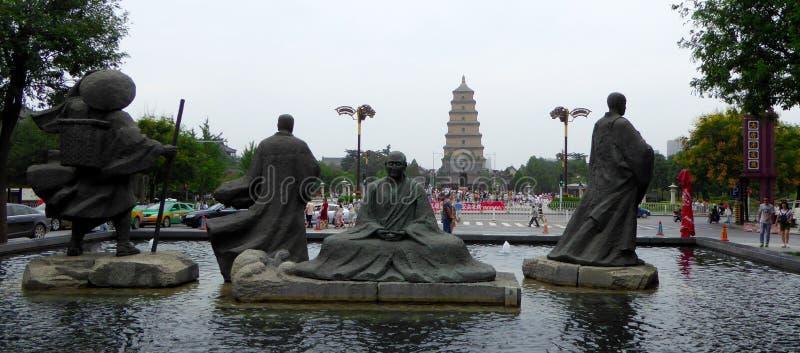 Miasto postaci rzeźba zdjęcie royalty free