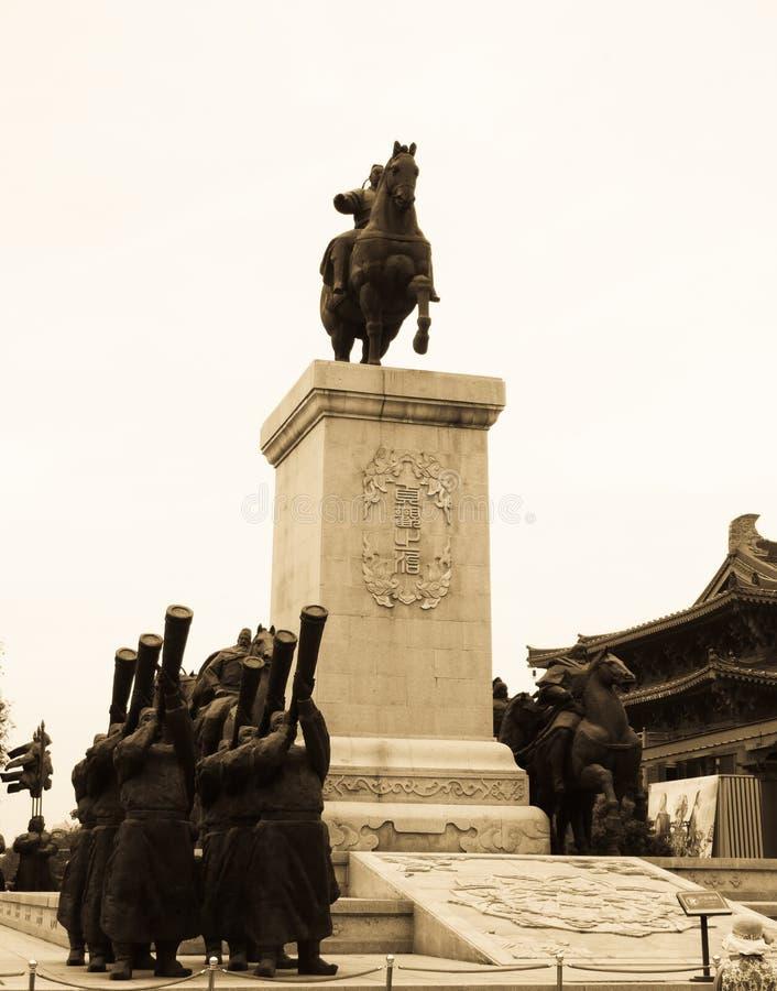 Miasto postaci rzeźba obraz royalty free