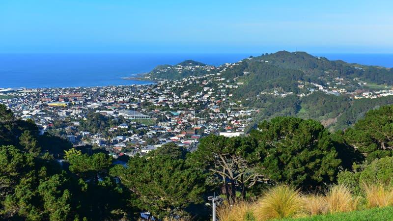miasto powietrzny widok Wellington zdjęcia royalty free