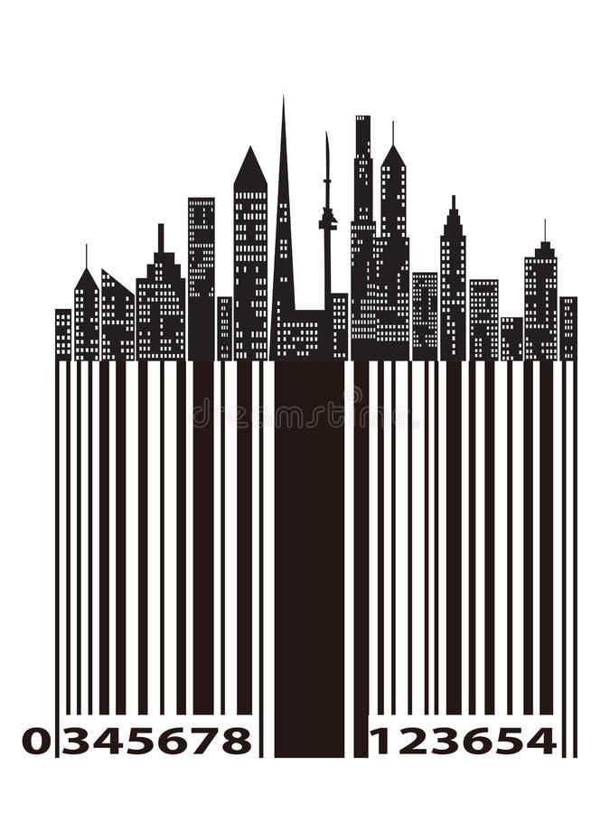 miasto prętowy kod ilustracja wektor