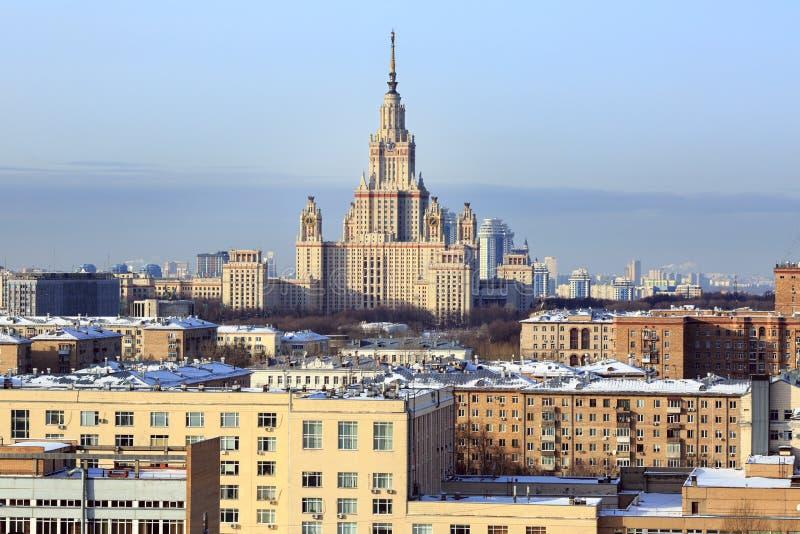 Miasto przegląd moscow Rosji fotografia royalty free