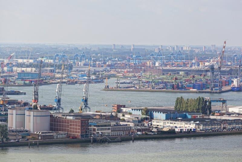 Miasto przegląda Rotterdam zdjęcie royalty free