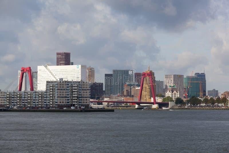 Miasto przegląda Rotterdam zdjęcia royalty free
