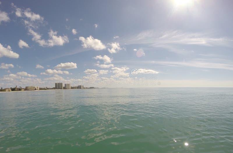 Miasto przy morzem obrazy royalty free