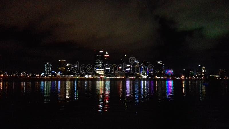 Miasto przy nocą obraz stock