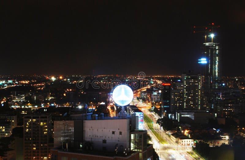 Miasto przy nocą zdjęcie royalty free