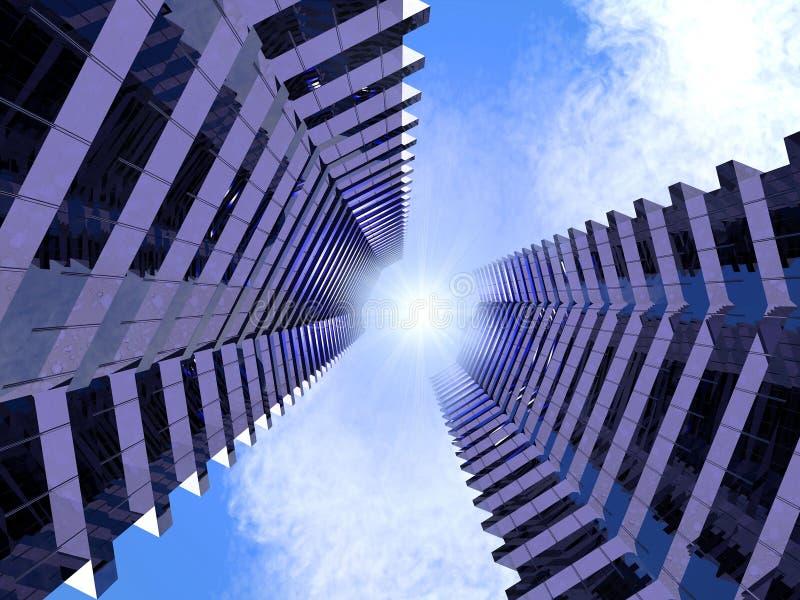 miasto przyszłość ilustracji
