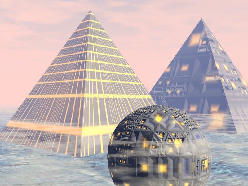 miasto przyszłości 3 royalty ilustracja