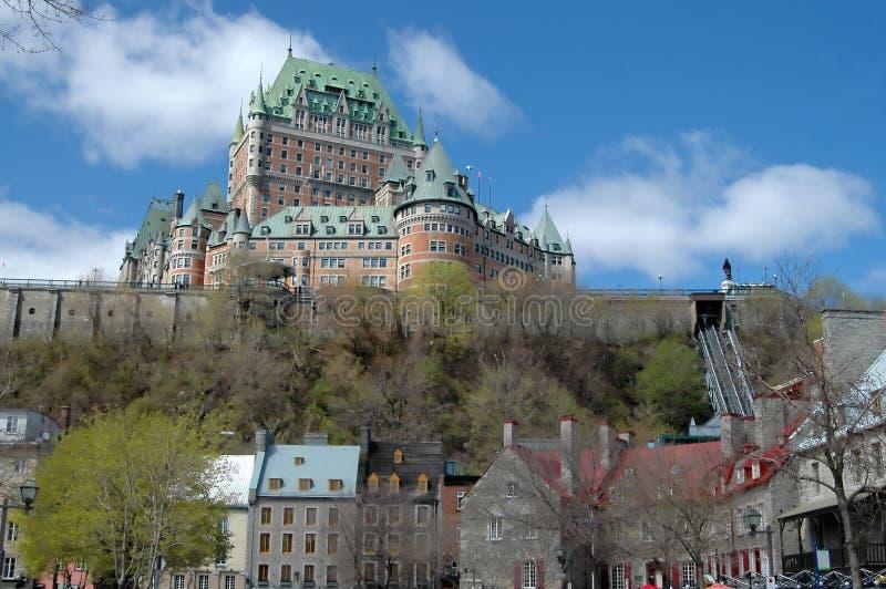 miasto Quebec nisko zdjęcia royalty free