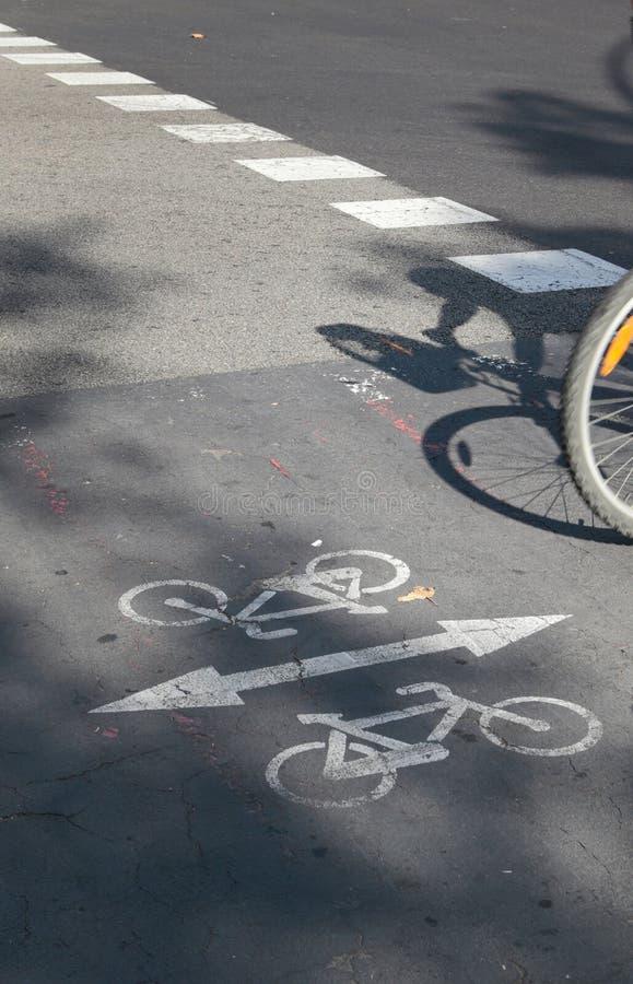 Miasto roweru pasa ruchu szczegółu vertical zdjęcie royalty free