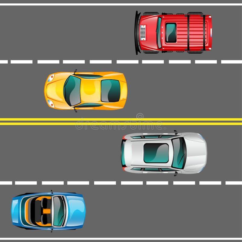 Miasto ruchu drogowego wektoru pojęcie ilustracja wektor