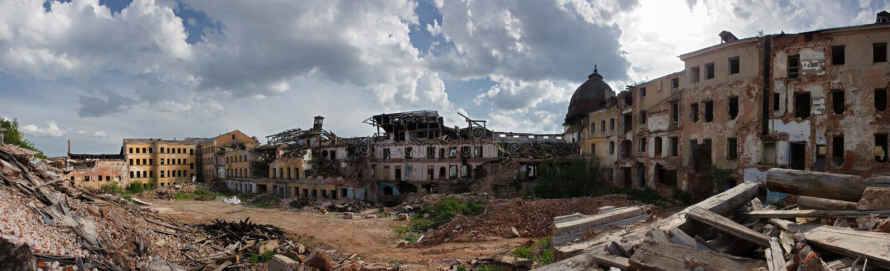 miasto ruiny obraz stock