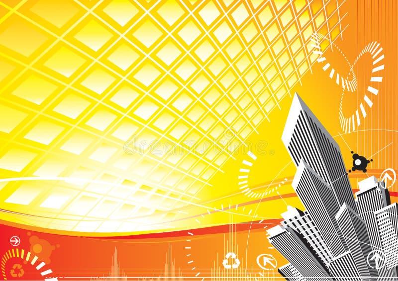 miasto słoneczna moc ilustracji