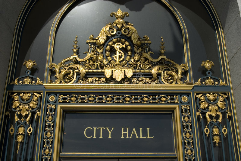 miasto San Francisco sali jest znak zdjęcie stock