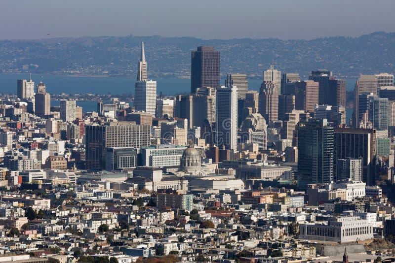 Miasto San Fransisco nieba linia obrazy royalty free