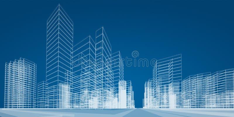 Miasto scena ilustracji