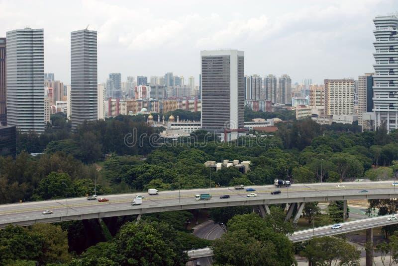 miasto scena Singapore zdjęcie royalty free