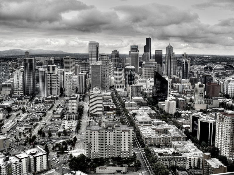Miasto Seattle zdjęcie royalty free