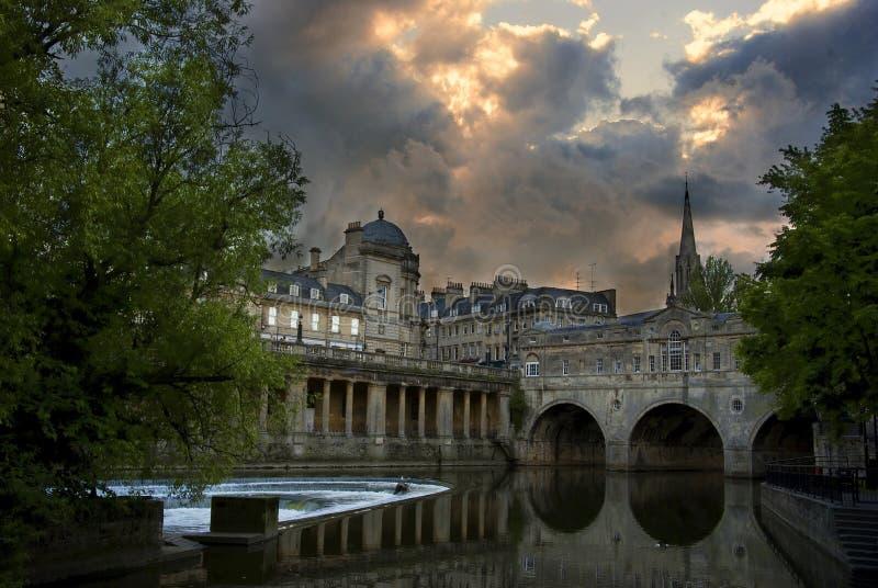 Miasto skąpanie zdjęcie royalty free