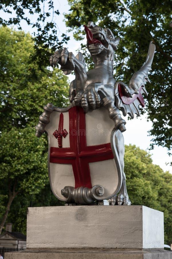 miasto smok London obraz royalty free