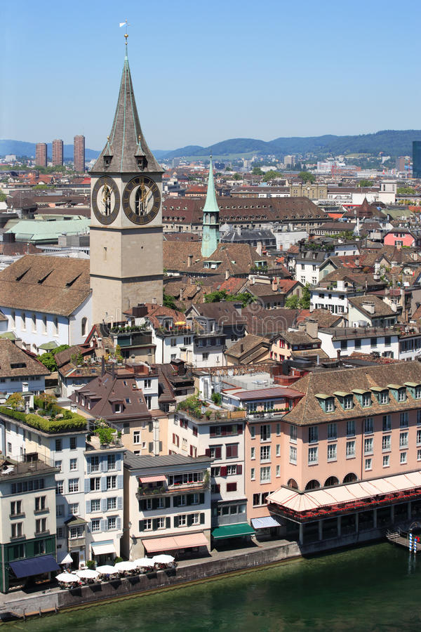 miasto Switzerland Zurich obrazy royalty free