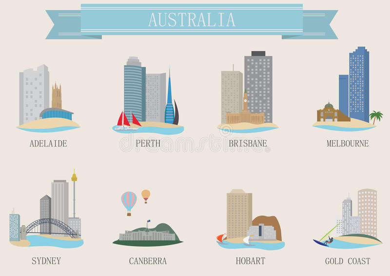 Miasto symbol. Australia ilustracji