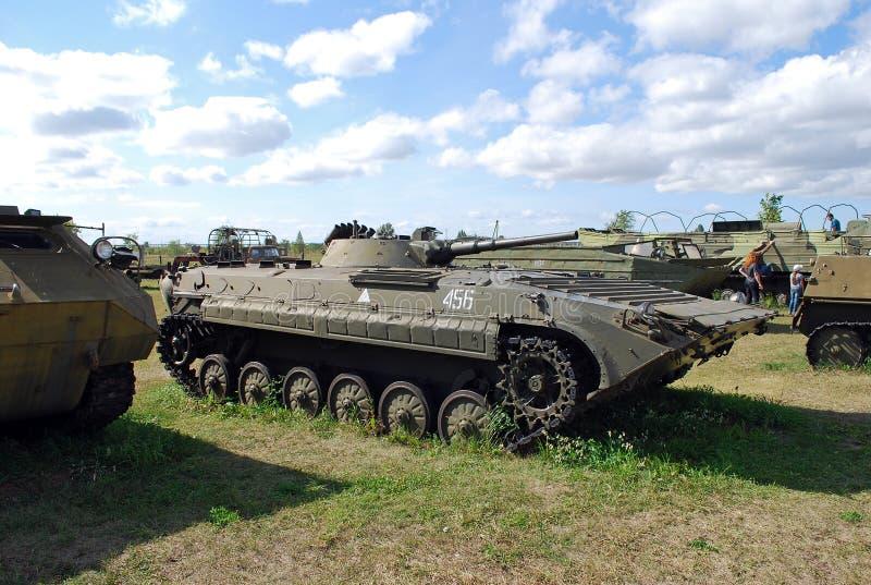 Miasto Togliatti Techniczny muzeum K g sakharov Eksponat muzeum BMP-1 piechoty pojazd bojowy zdjęcie royalty free
