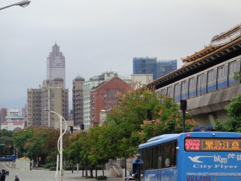 Miasto transport publiczny i widok obraz royalty free