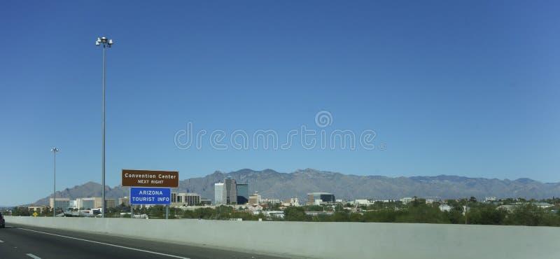 Miasto Tucson śródmieście, AZ zdjęcie royalty free