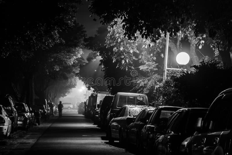 Miasto ulica i noc obrazy royalty free