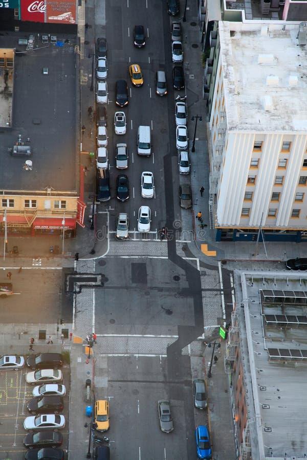 Miasto ulica od ptaka oka widoku zdjęcia royalty free