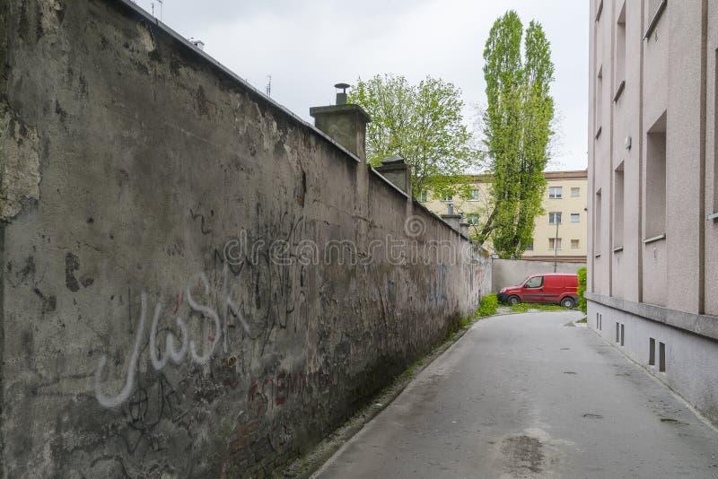 miasto ulica pusta wewnętrzna zdjęcie royalty free