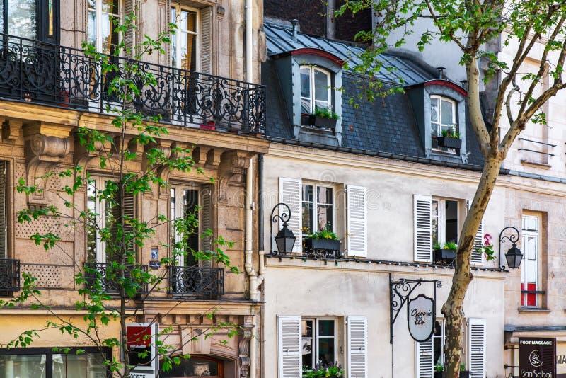 Miasto ulica w Paryż, Francja zdjęcia stock