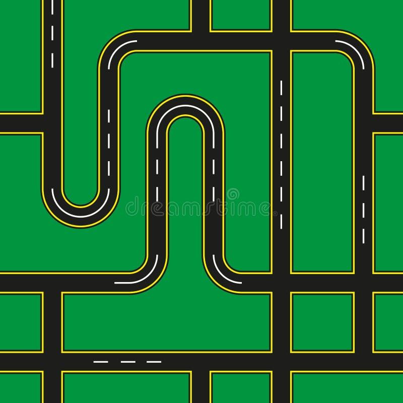 Miasto ulicy Bezszwowe ilustracji