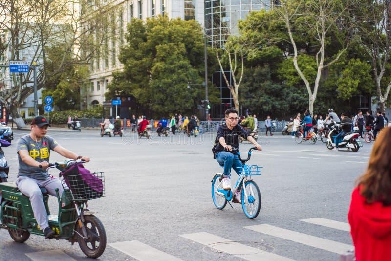Miasto uliczny widok, Nanjing ulicy sceneria obrazy stock