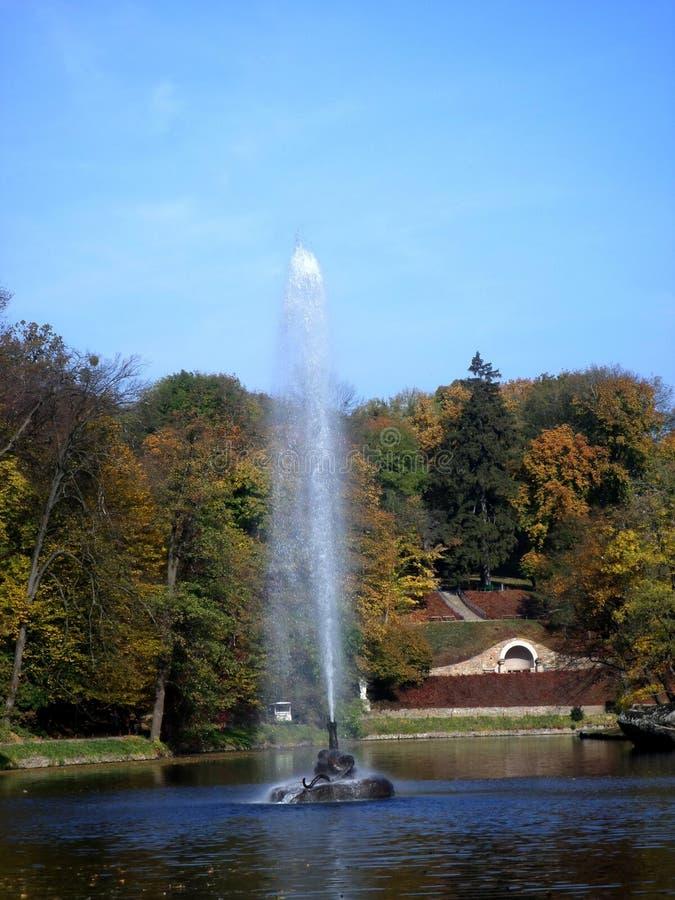 Miasto Uman Sophia park tours Nieopisany piękno visitant Mnóstwo pozytywne emocje zdjęcia stock