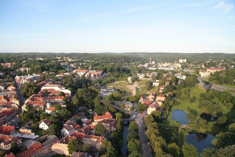 Miasto Vilnius & x28; Lithuania& x29; , widok z lotu ptaka zdjęcia royalty free