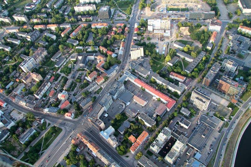 Miasto Vilnius Lithuania, widok z lotu ptaka zdjęcie stock