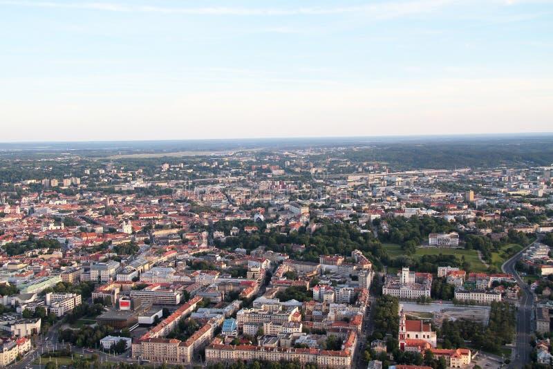 Miasto Vilnius Lithuania, widok z lotu ptaka fotografia royalty free