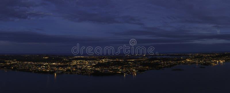 Miasto w środku morze zdjęcia royalty free