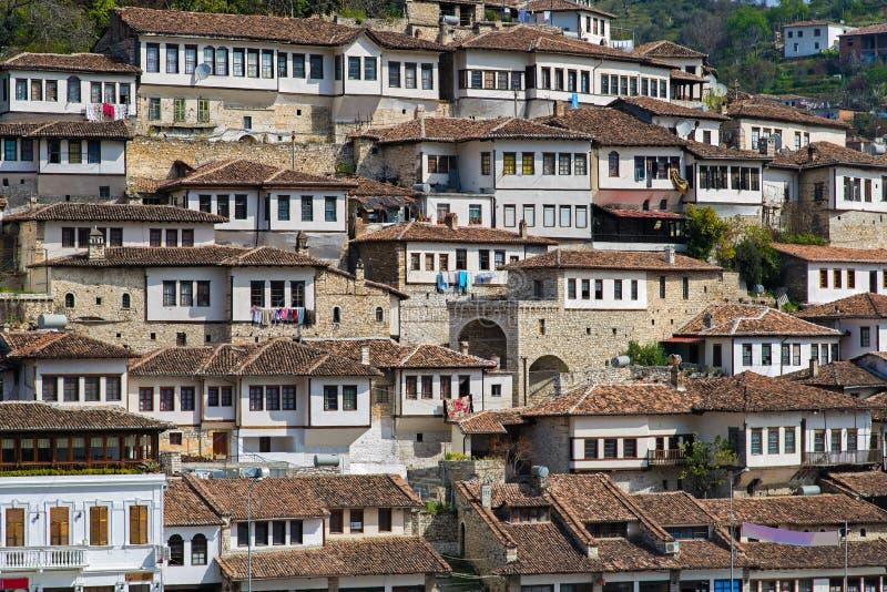 Miasto w Albania fotografia royalty free