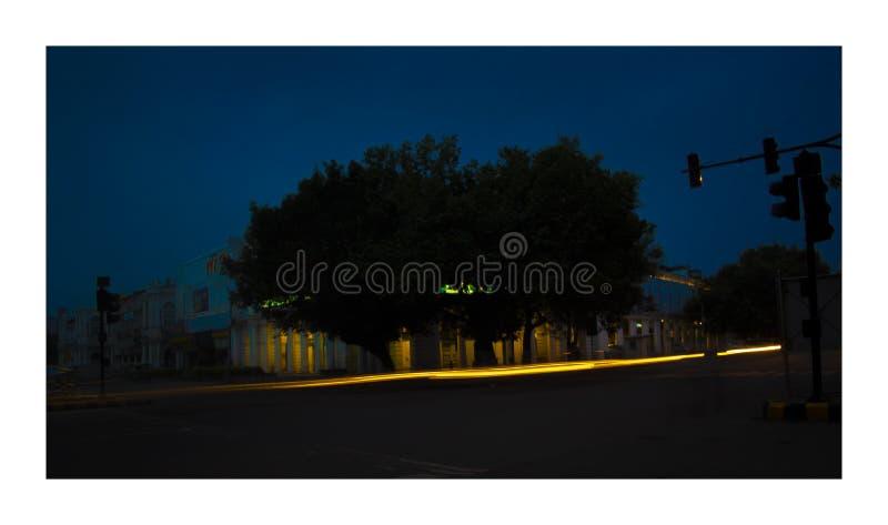 Miasto w plamie fotografia stock