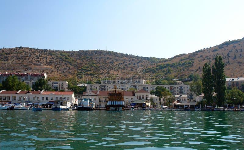 Miasto widok (Balaclava, Crimea) fotografia royalty free