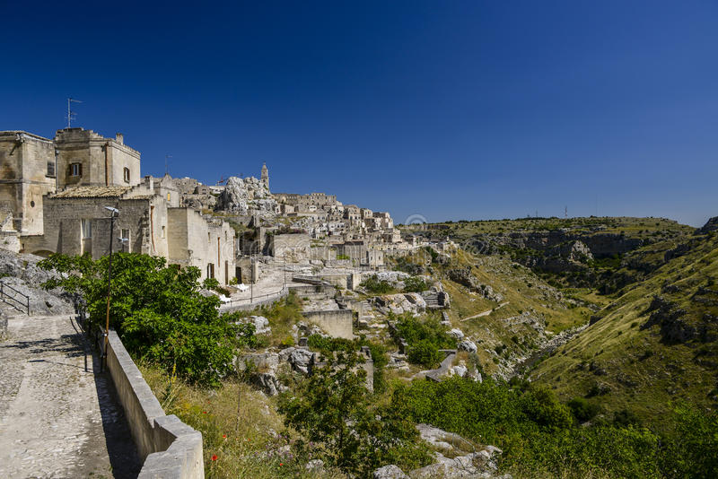 Miasto widok Matera zdjęcia stock