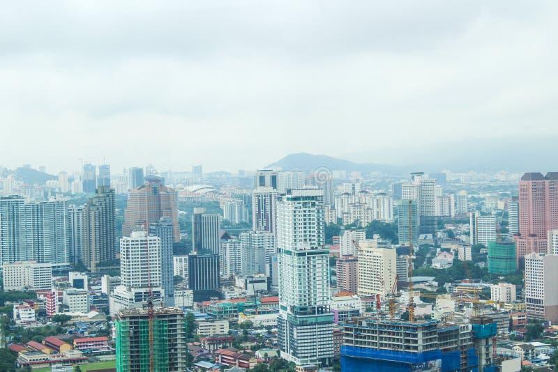 Miasto widok od najwyższego piętra Petronas bliźniacze wieże, Malezja, Azja zdjęcia stock
