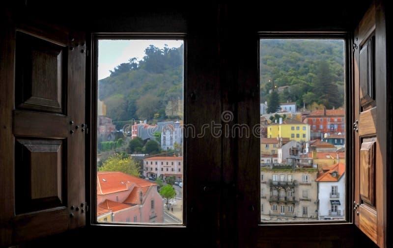 Miasto widok od okno obraz royalty free